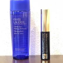 Estee Lauder Sumptuous Knockout Mascara 01 Black & Gentle Eye Makeup Rem... - $16.78