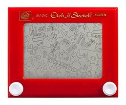 Etch A Sketch Ohio Art Classic Vintage Magic Screen Red Retro Drawing Fu... - $59.39