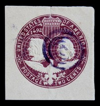 US Stamps- Sc# U349  LIGHT PURPLE TARGET CANCEL  Columbus & Liberty 1893 - $2.99