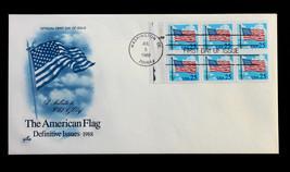 US Stamp Sc# 2285Ac FDC Flag & Clouds Booklet Pane Jul 5, 1988 UA Artcra... - $2.99