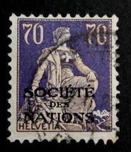 Stamp Switzerland- Sc# 2024 Used 1925 Overprint - $15.99