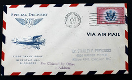 # CE2 FDC AIRMAIL SPECIAL DELIVERY WASHINGTON DC FEB 10, 1936 GRIMSLAND ... - $15.99