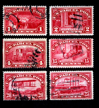 US Stamps Sc# Q1, Q2, Q4, Q7, Q8 & Q9 Parcel Post 1913 Some  Double Oval... - $24.99