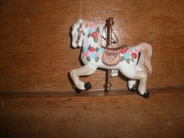 Ceramic Carousel Horse Christmas Ornament - $5.00