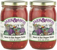 Jake & Amos Sweet & Hot Pepper Relish / 2 - 16 Oz. Jars - $18.65
