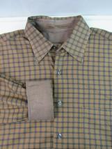 Robert Talbott Checkered Button Front Shirt Brown Size Medium - €18,07 EUR