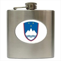 Slovenia Coat Of Arms Stainless Steel Hip Flask - Heraldic Tabard Design - €11,65 EUR