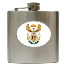 South Africa Coat Of Arms Stainless Steel Hip Flask - Heraldic Tabard De... - €12,35 EUR