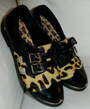 GIANNI BINI Sz. 5.5 Animal LEOPARD Print OXFORD... - $22.76