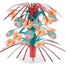 Island Oasis Mini Foil Centerpiece Cascade Summer Luau Pool Party Flamingos - €3,80 EUR