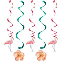 Island Oasis 5 Ct Dizzy Danglers Hanging Decorations Summer Luau Pool Pa... - $4.74