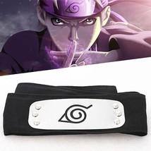NEW Naruto Kakashi Sasuke Black Leaf Village Konoha Ninja Headband Cospl... - $6.99