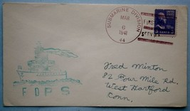 20. 1941 Submarine Cachet Mail with Submarine Division 44 Cancellation - $18.00