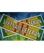 lot of 2 decals 3X10 Vietnam Veteran Flag DECAL Viet nam Cong Hoa VET decal - $9.90