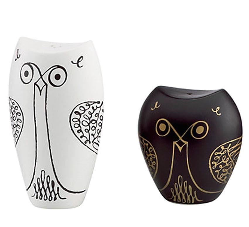 Kate Spade WOODLAND PARK Owl Salt & Pepper Shaker Set New In Box