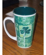 Abbey Press Irish Coffee Cup 4 Leaf Clover with Saying Large Tall Mug - $14.99