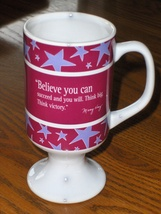Mary Kay Coffee Cup Tea Mug Believe You Can Succeed and You Will Think Big  - $12.97