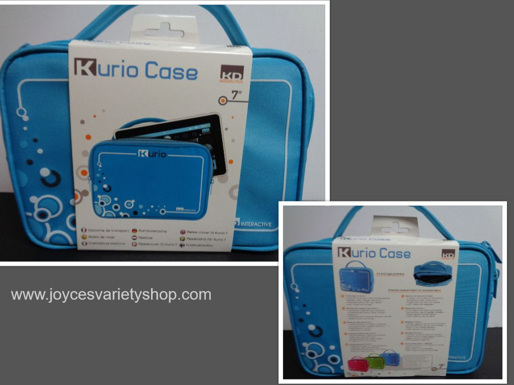 "Kurio Case Blue NWT Two Compartments For 7"" Device & Accessories"
