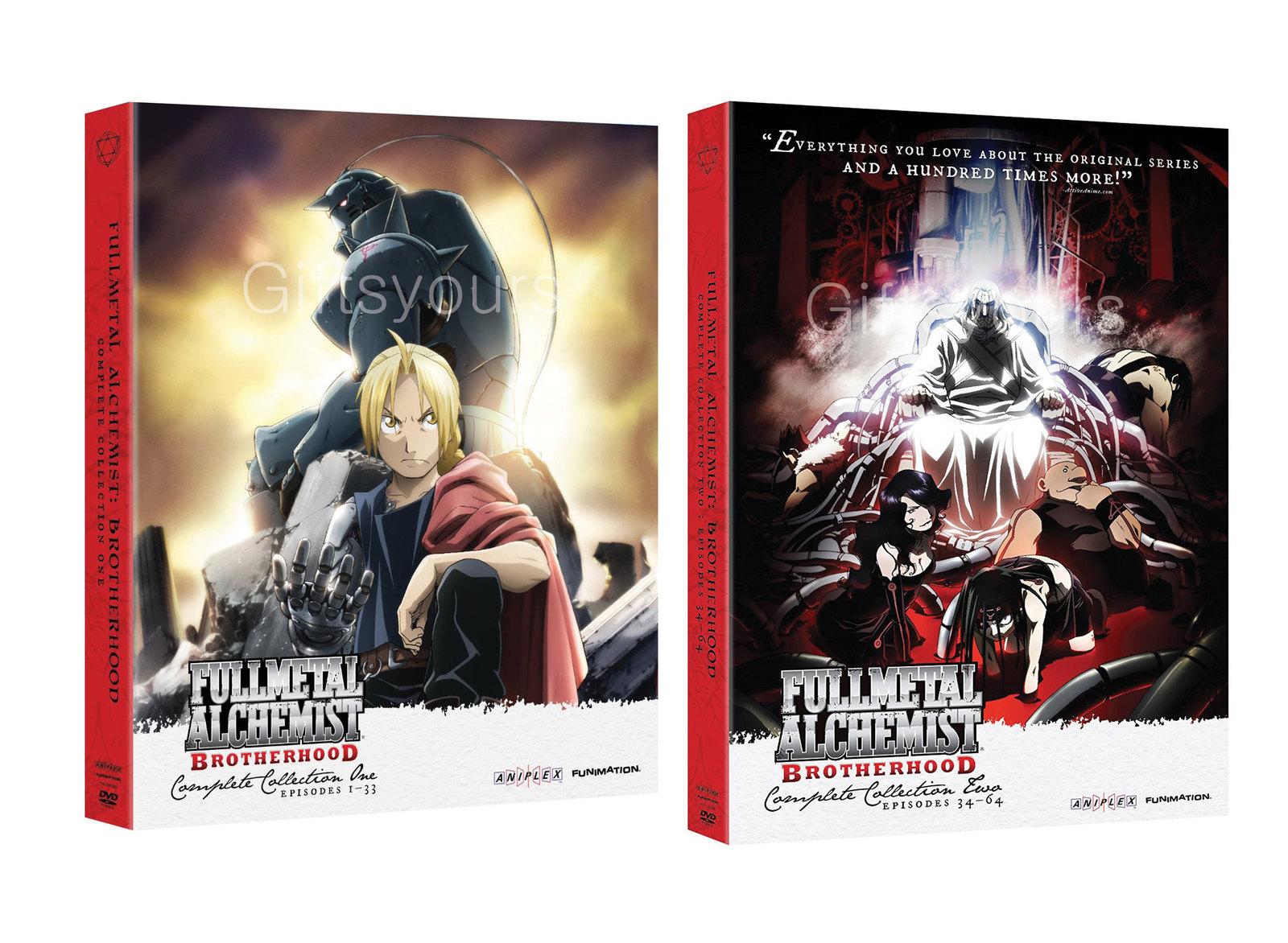 FMA Fullmetal Alchemist: Brotherhood Complete Series DVD ...