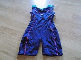 Size Medium 8-10 Jacques Moret Dance Gymnastics Unitard Leotard Navy But... - $18.00