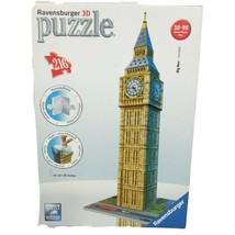 Ravensburger 3D 216 Piece Puzzle Big Ben London Clock Architecture 2011 ... - $33.06