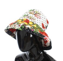 Dolce & Gabbana Carretto Print Wide Brim Bucket Hat 83157 - $276.59