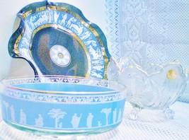 Lot #2600 JEANNETTE Glass Co., Large Decorative Iconic Bowls 50's & 60's  - $19.75
