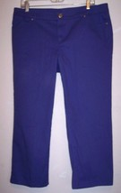Style Co Jeans 12 Purple Stretch Denim Crop Capri Pants Waist 35 Inseam 24 - $17.72