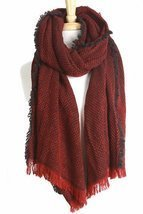 Sassy Apparel Women's Soft and Warm Checkered Scarf with Fringe Detail - £7.90 GBP
