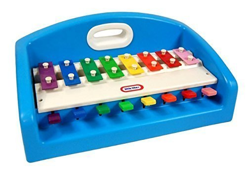 1985 Little Tikes Blue Tap-A-Tune Piano Xylophone and Keyboard with handle - $54.90