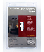 Lutron TGFSQ-FH-WH Toggler Fan Speed Control White - $23.70