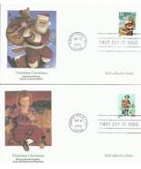 5 FDC 32 CENT VICTORIAN CHRISTMAS SELF ADHESIVE SANTA SAINT NICK FREE SH... - £9.19 GBP