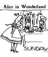 30's Alice in Wonderland transfer pattern embroidery ww1001 - $5.00