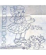 Vintage Monday's Child (DOW) Crib Quilt transfer pattern mo577 - $6.00