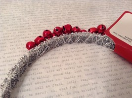 Jingle bell fashion head wear band choice of color way silver red green headband image 4