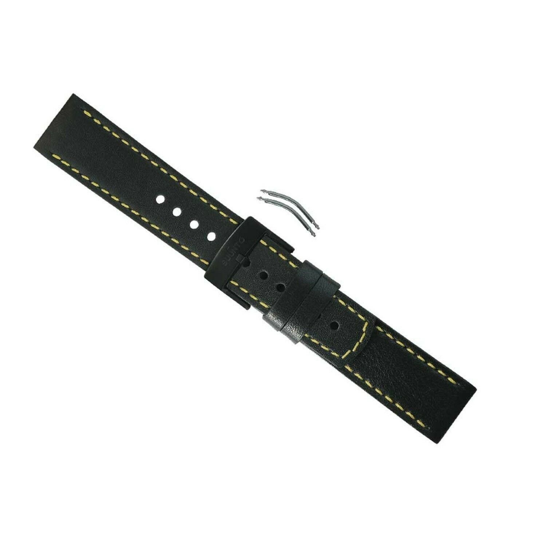 Suunto Elementum Ventus Strap Black/Yellow Leather One Size SHIPSFREE - $88.98