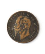 1866 H Italy 10 Ten Centesimi Copper Coin  KM# 11.3 - ₹703.75 INR
