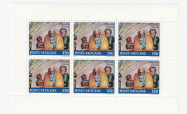 1991 Sistine Chapel Jacob Pane of 6 Mint Vatican City Postage Stamps