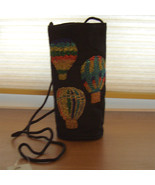 Water Bottle Hot Air Balloon Shoulder Strap Tote - $9.99