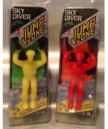 Jump Zone Sky Divers Toy - Lot Of 2 - Yellow & Orange - Real Parachute F... - $9.94