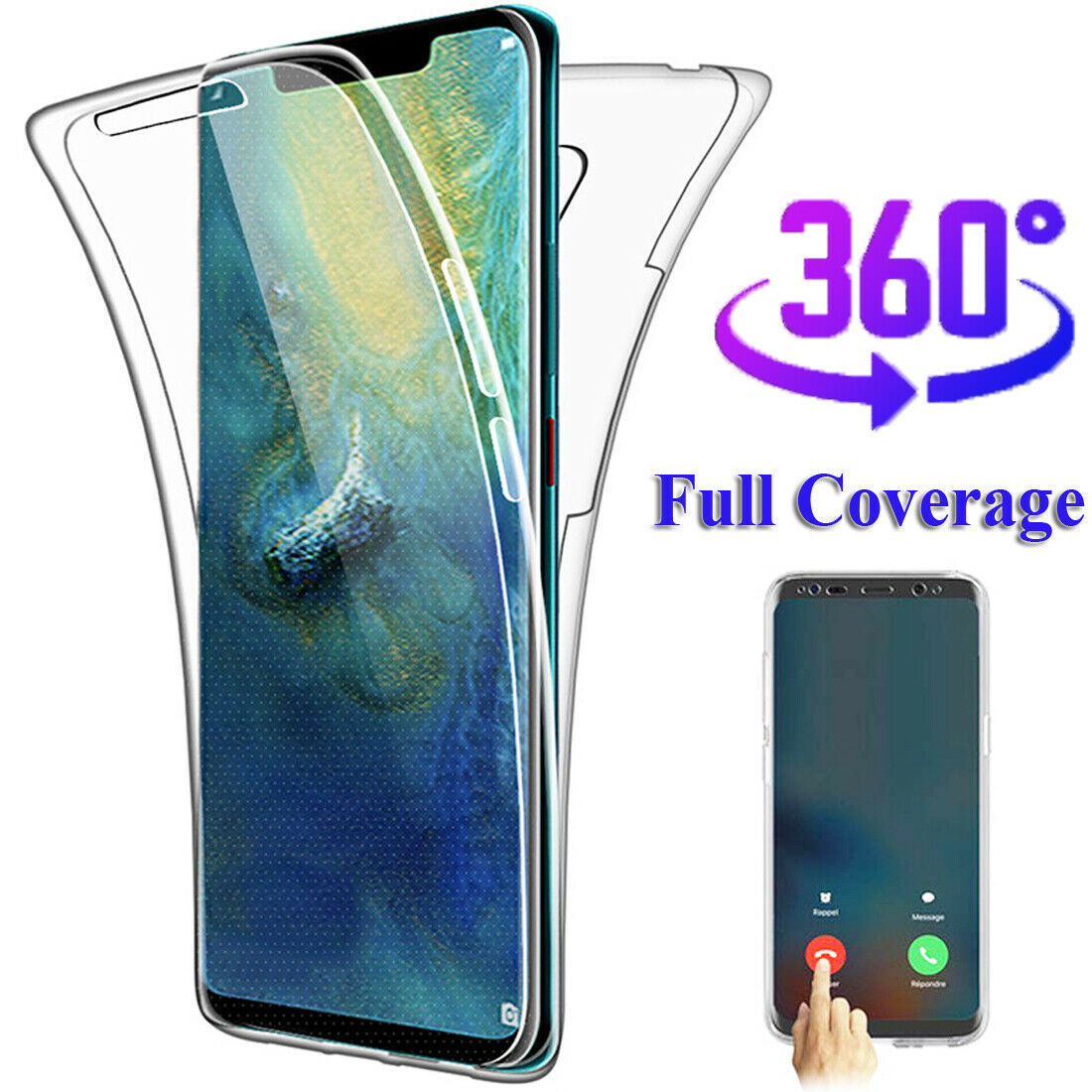 360° Full Protective Silicone Case Cover for Samsung Galaxy S10 Plus/S10e/S8 S9+