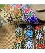 10yards native embroidery webbing lace trim 2.5cm ribbon woven tape boho... - $12.00