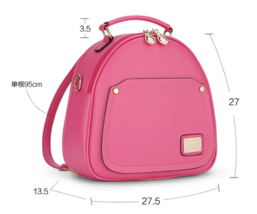 Free Shipping Women Leather Shoulder Bags Medium Backpacks L311-1 - $39.99