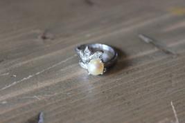 Vintage 18k HGE Faux Pearl Ring Size 5.75 - $11.88
