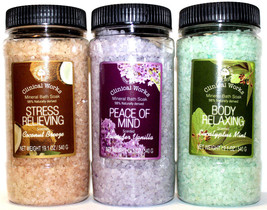 Mineral Bath Salt Muscle Soaks STRESS Relieving BODY Relaxing PEACE OfMi... - $12.99+