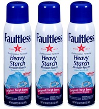 3x Faultless ORIGINAL Fresh Scent Heavy Starch ... - $16.99