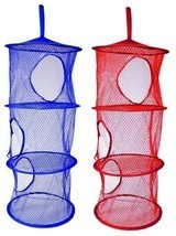 2 x Layer Hanging Hamper Mesh Storage Closet Or... - $8.99