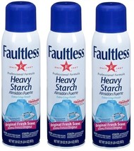 3x Faultless Extra Crisp Finish HEAVY Starch Spray ORIGINAL Fresh Scent ... - $16.99