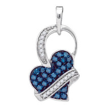 Women 10K White Gold Fn 925 Silver White & Blue... - $56.99
