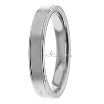 10K WHITE GOLD WOMENS CONTEMPORARY WEDDING BANDS RINGS WOMENS WEDDING RI... - $204.77